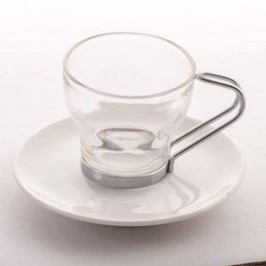 Espresso Cup Saucer Glass (Small)