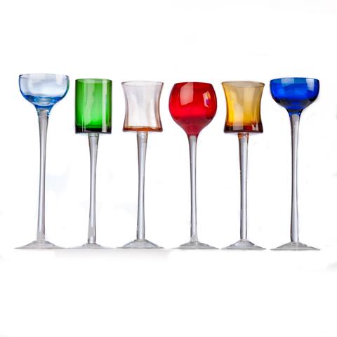 Coloured Glassware (set of 6)