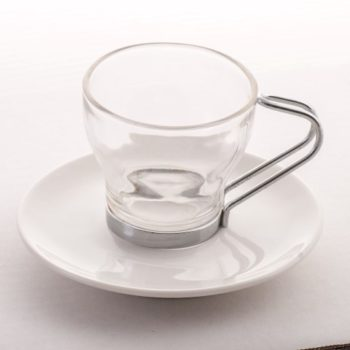Espresso Cup Saucer Glass (Small)