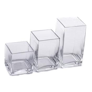 Glass Vases Set of 3.Edit2
