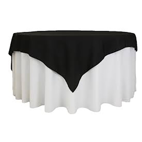 Table Overlay Black 1m square